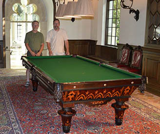 e181635703648 Bankshot Antique Pool Tables Showcase