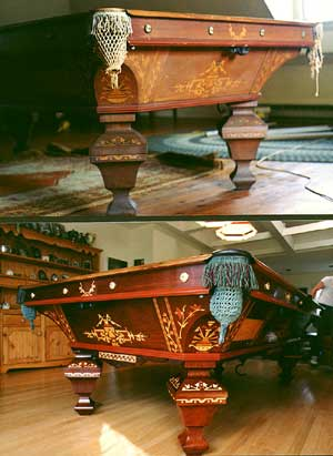 Antique Billiard Pool Table Restoration