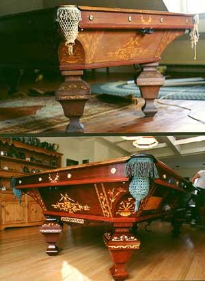 Antique Billiard Pool Table Restoration Notes - Pool table repair long island