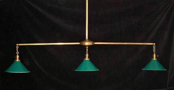 Bankshot Billiard Lamps Antique Billiard Pool Table Restoration