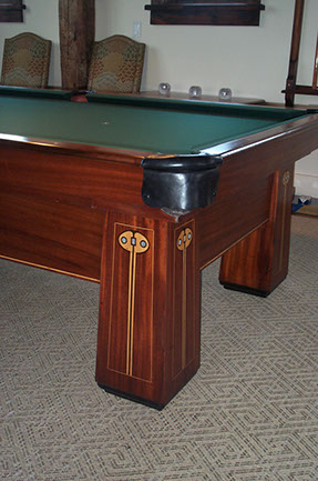 BBC Regina Antique Pool Billiard Table Restoration Repair - Regent pool table