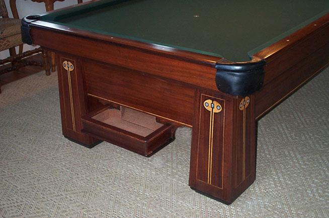 BBC Regina Antique Pool Billiard Table Restoration Repair - Old brunswick pool table